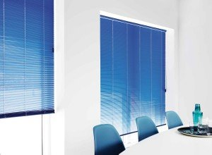 Blue Aluminium venetian blinds