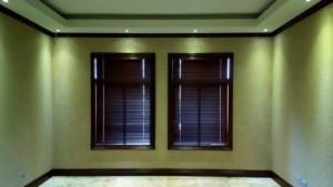 dark oak venetian aluminium blinds