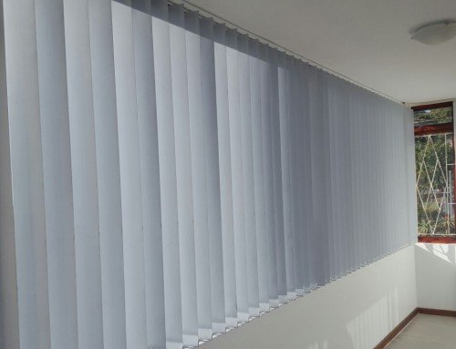 Vertical Blinds Installed To Block Out The Sun